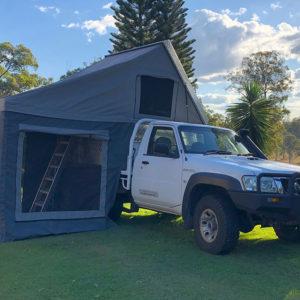 Comet slide on camper